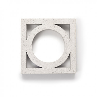 Breeze Blocks Austral Masonry - 10-906 Circle Breeze - Pewter