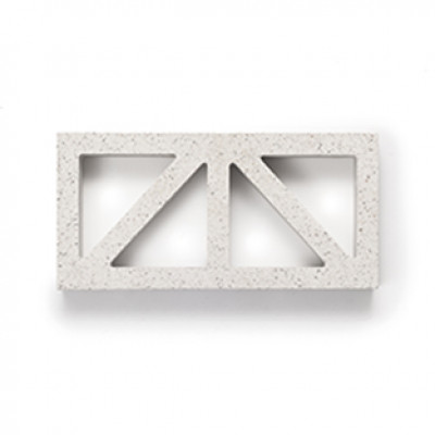 Breeze Blocks Austral Masonry - 15-937 Wedge Breeze - Pewter