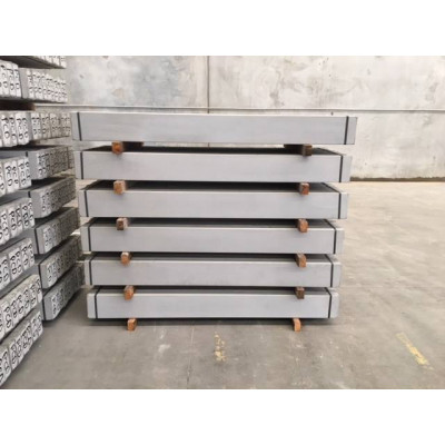 Concrete Sleepers Smooth Plain Grey 2 Bar - 2.4 m x 200mm x 75mm