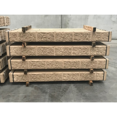 Concrete Sleepers Block Pattern Sandstone 2 Bar - 2.4 m x 200mm x 75mm