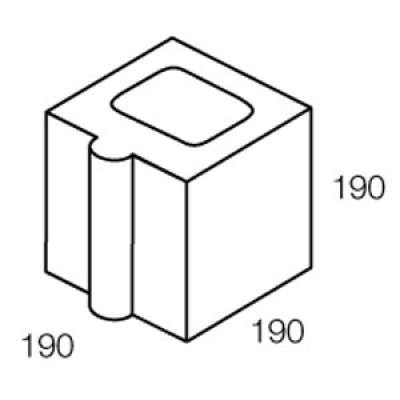 Grey Block 200 series - 20.10 Control Joint Half